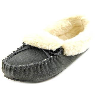 Minnetonka Felice Women Round Toe Suede Gray Slipper
