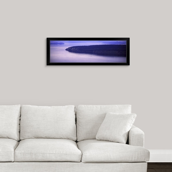 """Orcas Island, Turtleback Mountain, San Juan Islands, Washington State"" Black Framed Print"