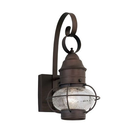 "Designers Fountain 1761-RT 1 Light Outdoor 10"" Onion Wall Lantern from the Nantucket Collection"