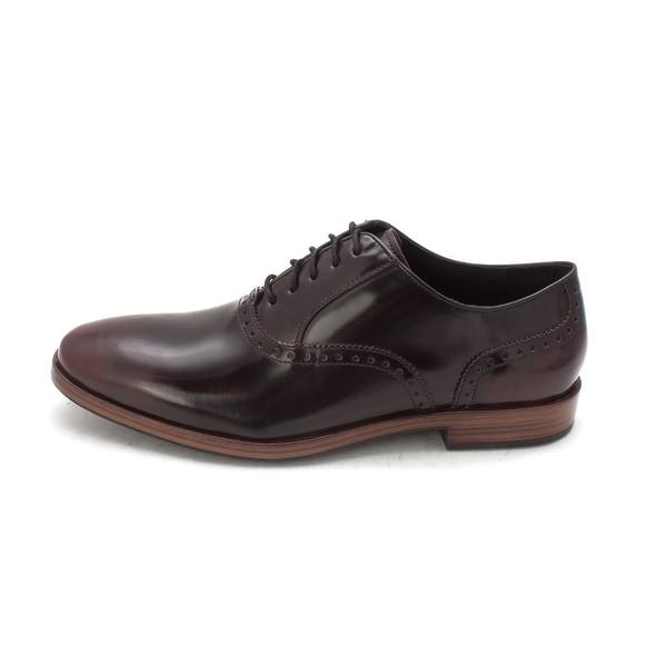 Cole Haan Mens Premium Grand Dress Flex Plain Ox Leather Lace Up Dress Oxfords - 8.5