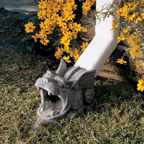 Design Toscano Roland the Gargoyle Gutter Guardian Downspout Statue