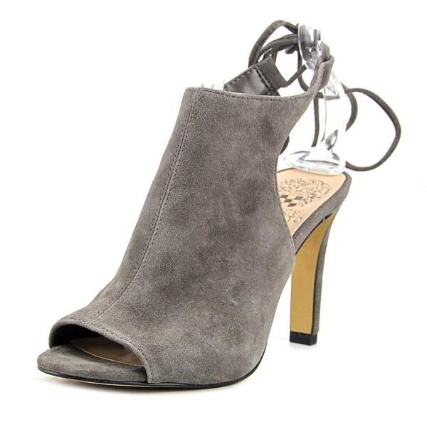f7b2ce4b8d3 Shop Vince Camuto Ollisa Women Peep-Toe Suede Gray Slingback Heel ...