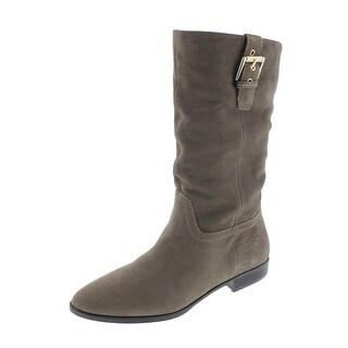Aldo Womens Aloise Leather Slouchy Mid-Calf Boots