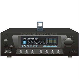 Pyle Home PT270AIU 30-Watt Stereo Am-Fm Receiver With Ipod- R Dock
