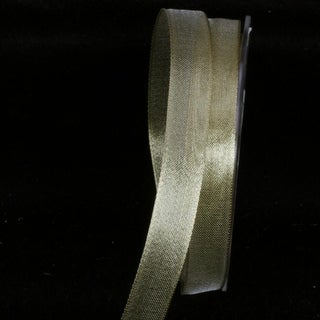 Sheer Metallic Gold Wired Craft Ribbon 16mm x 100 Yards