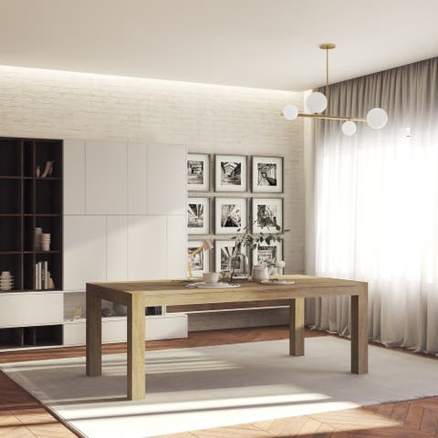 Midtown Concept Indoor Valsen Wire Brushed Wood Dining Table - Driftwood