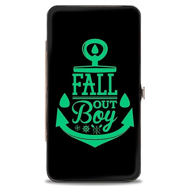 Fall Out Boy Anchor Black Teal Hinged Wallet - One Size Fits most