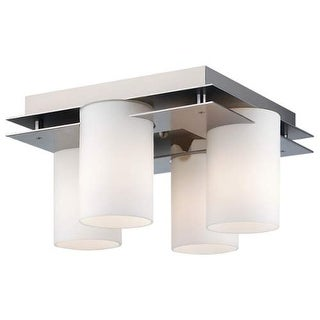 "Forecast Lighting F160316 4 Light 13.5"" Wide Flush Mount Ceiling Fixture from the Ingo Collection - Gun Metal"