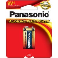 Panasonic Alkaline Plus Batteries, 9 Volt