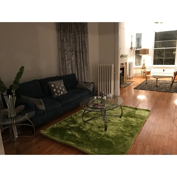green living room rug. Shag Solid Green Area Rug  5 x 7 Free Shipping Today Overstock com 18187498