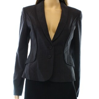 Halogen NEW Gray Black Women's Size 2 Two-Button Lapel Stretch Blazer