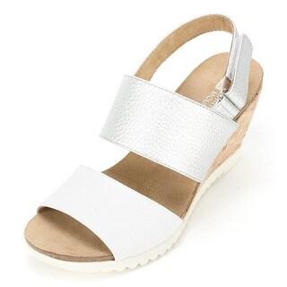 White Mountain Womens Teller Open Toe Casual Platform Sandals