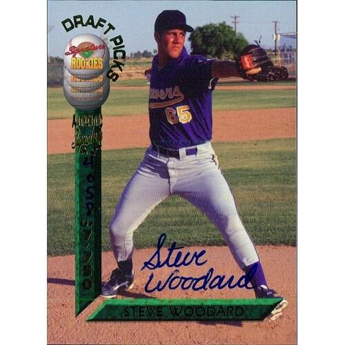 Signed Woodard Steve Steve Woodard 1994 Signature Rookies Baseball Card autographed