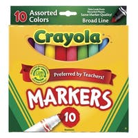 Crayola Original Broad Line Markers, Assorted Bright and Bold Colors, Set of 10
