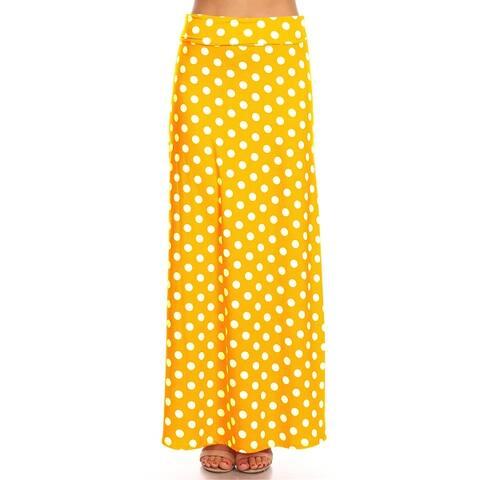 Women's Polka Dot Casual Long Maxi Skirt