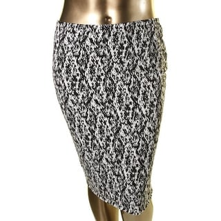 Vince Camuto Womens Plus Lined Pull On Pencil Skirt