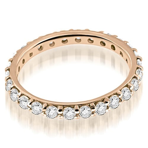 1.30 cttw. 14K Rose Gold Petite Round Cut Diamond Eternity Band Ring