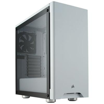 Corsair Carbide 275R Mid-Tower Gaming Case, Tempered Glass- White
