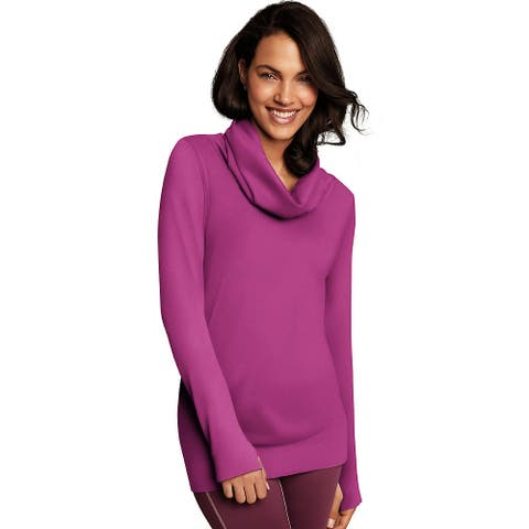 Maidenform Baselayer Thermal Cowl Neck - Color - Magenta Quartz - Size - XL