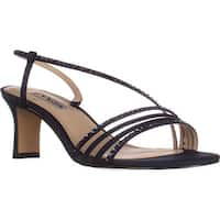 Nina Gerri Cross Strap Evening Sandals, New Navy