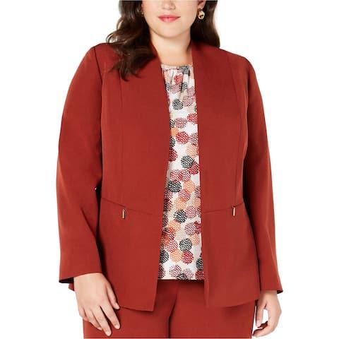 Kasper Womens Flyaway Blazer Jacket, Orange, 16W