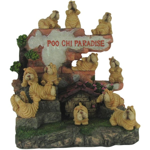 Poochi Paradise 25 Piece Collectible Dog Figurine Set