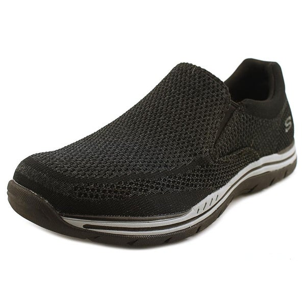 Skechers Expected Gomel Men Round Toe Synthetic Black Loafer