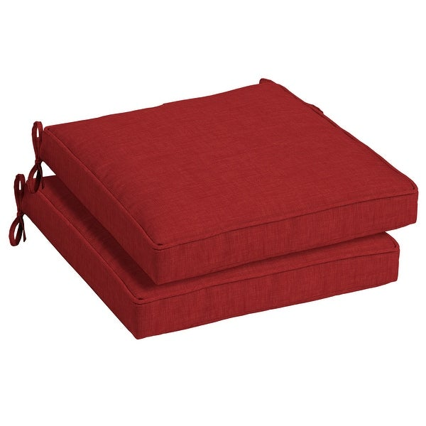 Arden Selections Ruby Leala Texture Outdoor Seat Cushion (2-Pac - 21 in L x 21 in W x 5 in H. Opens flyout.