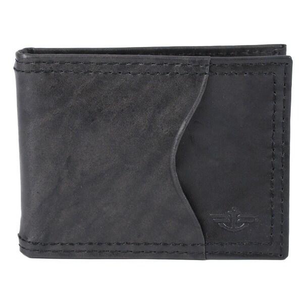 Dockers Men's Leather Flip Money Bar Clip Front Pocket Wallet - One size