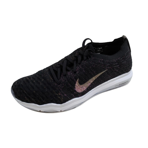 97f9c833ad3 ... Women s Athletic Shoes. Nike Women  x27 s Air Zoom Fearless Flyknit  Metallic Black Dark Grey 922883