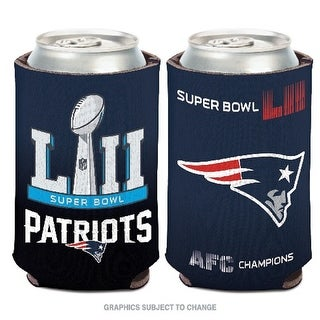 Incroyable New England Patriots 2017 2018 AFC Champions Can Cooler