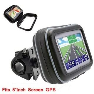 "TomTom Motorcycle Handle Bar Mount-Includes 5"" Universal Case For GPS Navigators"
