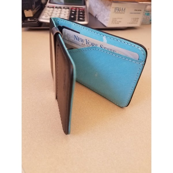 Zodaca genuine 100 percent leather money clip wallet with extra zodaca genuine 100 percent leather money clip wallet with extra business card credit card holder free shipping on orders over 45 overstock 16896528 colourmoves