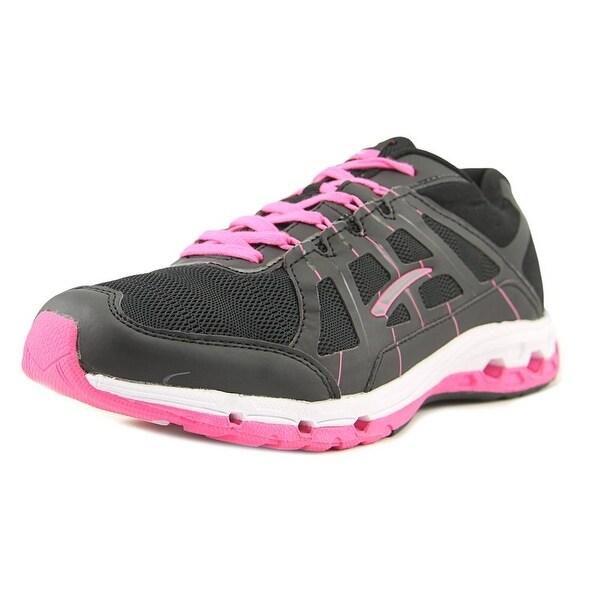 La Gear Stealth Women Round Toe Synthetic Black Running Shoe