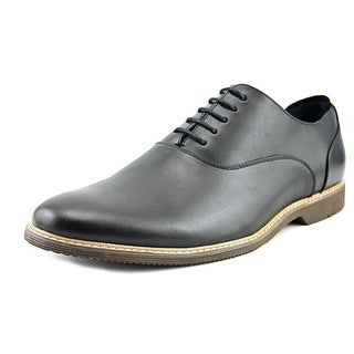 Steve Madden Nunan Men  Round Toe Leather Black Oxford