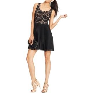 B. Darlin Womens Juniors Party Dress Lace Keyhole - 11/12