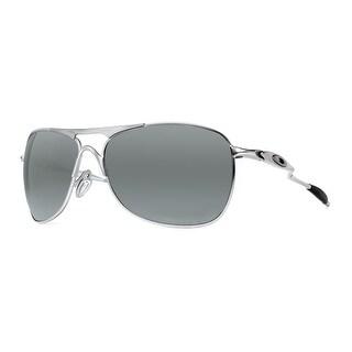 Oakley Crosshair OO4060-06 Matte Lead/Black Iridium Polarized Aviator Sunglasses - lead/gunmetal gray - 40mm-15mm-127mm