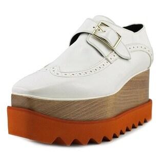 Stella McCartney Scarpa Dana Women Open Toe Patent Leather White Platform Heel