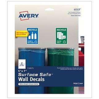 Surface Safe Wall Decals 5In X 7In 6 Labels