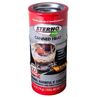 Sterno 20230 Canned Heat Cooking Fuel, 2.6oz, Pink Red, Solid Gel, 3 per pack