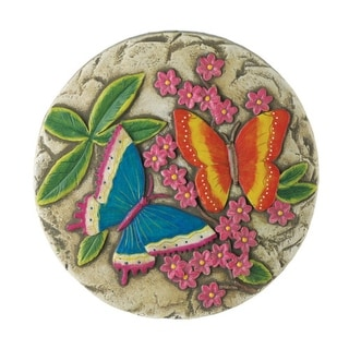 Set of 2 Glow-in-the-Dark Butterfly Stepping Stones