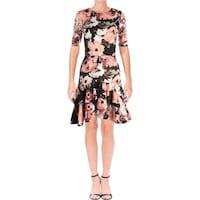 3c3b54b04de8 Shop Olympia Ruffled Strapless Scuba Dress - Free Shipping Today ...