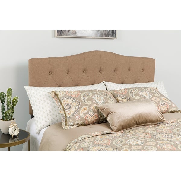 Cambridge Arched Button Tufted Upholstered Headboard