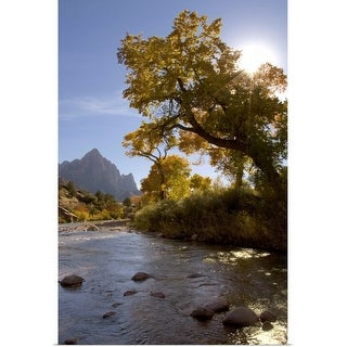 """Zion National Park in autumn, Utah"" Poster Print"