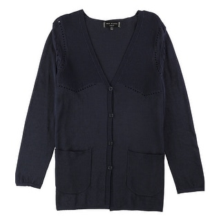 Link to Max Studio London Womens V-Neck Cardigan Sweater Similar Items in Women's Plus-Size Clothing