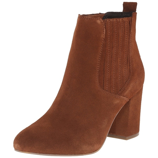 Steve Madden Womens Gasto Leather Almond Toe Ankle Chelsea Boots