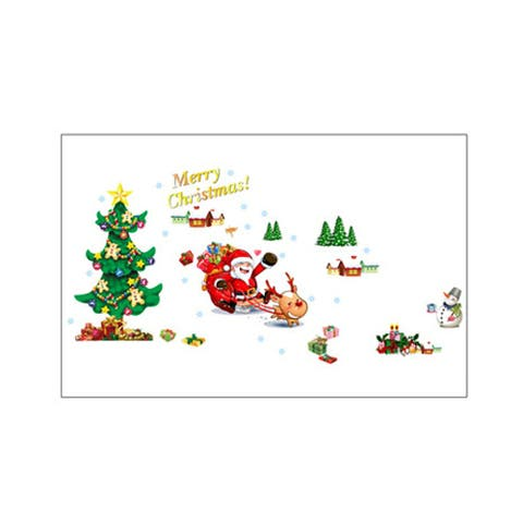 Unique Bargains Christmas Tree Pattern Removable Wall Decor Sticker Decal