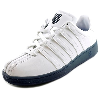 K-Swiss Classic VN Reflective Men Round Toe Leather White Sneakers