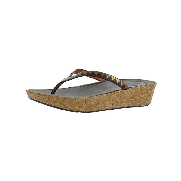 deda8b0d7f96 Shop Fitflop Womens Linny Toe-Thong Thong Sandals Leather - Free ...