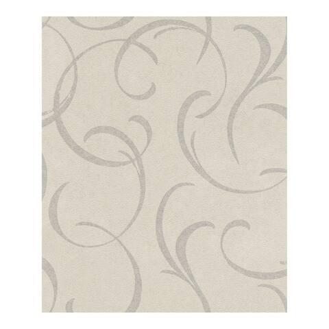 Lysander Silver Scrolls Wallpaper - 20 x 396 x 0.025